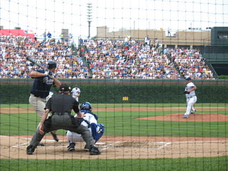 Chris Young (pitcher) - Chris Young batting against Chicago Cubs starting pitcher Carlos Zambrano shortly before the brawl on June 16, 2007