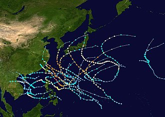 2007 Pacific typhoon season - Image: 2007 Pacific typhoon season summary