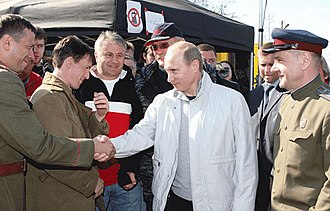 Burnt by the Sun 2 - Russian Prime Minister Vladimir Putin on a visit to the movie set in Leningrad Oblast on 13 May 2008 (see the video below).