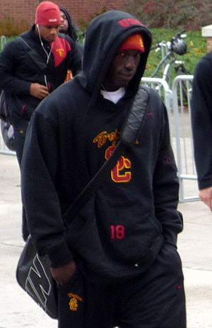 Damian Williams (wide receiver) - Williams walking with USC teammates to a game.
