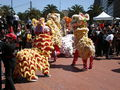 2008 Olympic Torch Relay in SF - Lion dance 14.JPG