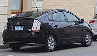 Facelift Toyota Prius With Clear Upper Tail Lamp Portions