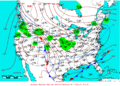 2009-01-25 Surface Weather Map NOAA.png