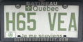 2011 Québec license plate H65 VEA electric vehicle.png