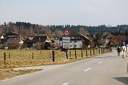 The entrance to Bleienbach village