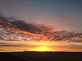 2014-12-19 07 49 15 Sunrise along Interstate 80 near milepost 17 in the Bonneville Salt Flats of Utah.JPG