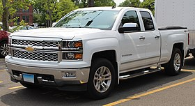 2014 Chevrolet Silverado 1500 LTZ Double Cab 5.3L Hagerty parking lot, 6.1.19.jpg