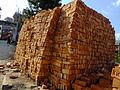2015-03-08 Stacks of bricks in Swayambhunath,Katmandu,Nepal DSCF3932.jpg