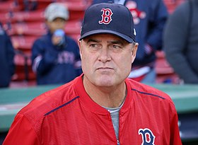 2016-10-10 Boston manager John Farrell before Game 3 of ALDS 02.jpg