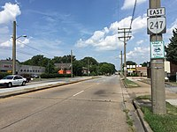 2017-07-12 15 15 22 View east along Virginia State Route 247 (Norview Avenue) at Virginia State Route 194 (Chesapeake Boulevard) in Norfolk, Virginia.jpg