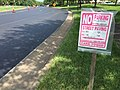 2017-08-24 12 27 59 Temporary No Parking sign placed along Stone Heather Drive near Elevation Lane in the Franklin Farm section of Oak Hill, Fairfax County, Virginia during paving.jpg