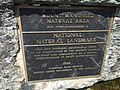 2017-09-11 12 47 14 The Mount Mansfield Natural Area-National Natural Landmark plaque along the Long Trail between the Nose and the Chin of Mount Mansfield within Mount Mansfield State Forest in Stowe, Lamoille County, Vermont.jpg