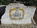 2017-11-04 Street name sign, Rua Natália Correia, Albufeira.JPG