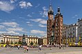 2018-07-04 Saint Mary Basilica on Old Town Market Square in Kraków.jpg