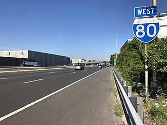 South Hackensack, New Jersey - I-80 westbound in South Hackensack