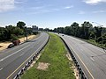 2019-07-17 09 24 57 View north along Interstate 895 (Baltimore Harbor Tunnel Thruway) from the overpass for Interstate 195 (Metropolitan Boulevard) in Arbutus, Baltimore County, Maryland.jpg