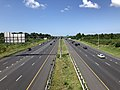 2019-07-24 10 52 17 View west along Interstate 70 and U.S. Route 40 (Baltimore National Pike) from the overpass for Maryland State Route 355 (Urbana Pike) in Ballenger Creek, Frederick County, Maryland.jpg