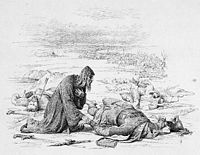 Bishop Cyril finds headless body of Grand Duke Yuri on the field of battle of the Sit River.