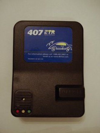 Transponder - A Highway 407 toll transponder