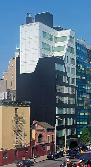 459 West 18th Street - West profile and south elevation from the High Line, 2013