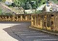 517 Castell de la Suda (Tortosa), mur amb espitlleres a la rampa d'accés.JPG