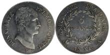 Silver coin: 5 francs_AN XI, 1802, Bonaparte, First Consul (Source: Wikimedia)
