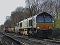 66413 and 66 number 131 Hither Green P.A.D. to Hoo Junction up yard (12986169824).jpg