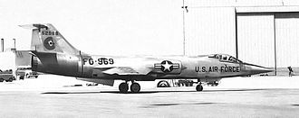 83d Fighter Weapons Squadron - 83d FIS YF-104A Starfighter 55-2969 deployment to operational service
