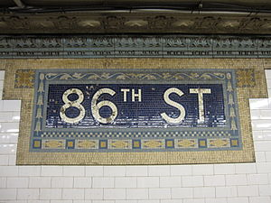 86th Street (IRT Broadway–Seventh Avenue Line) - Image: 86th Street IRT Broadway 9