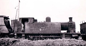 Headcorn and Maidstone Junction Light Railway - Hecate at Eastleigh in 1950