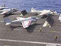 A-6E VA-52 on cat USS Carl Vinson (CVN-70) 1986.JPEG