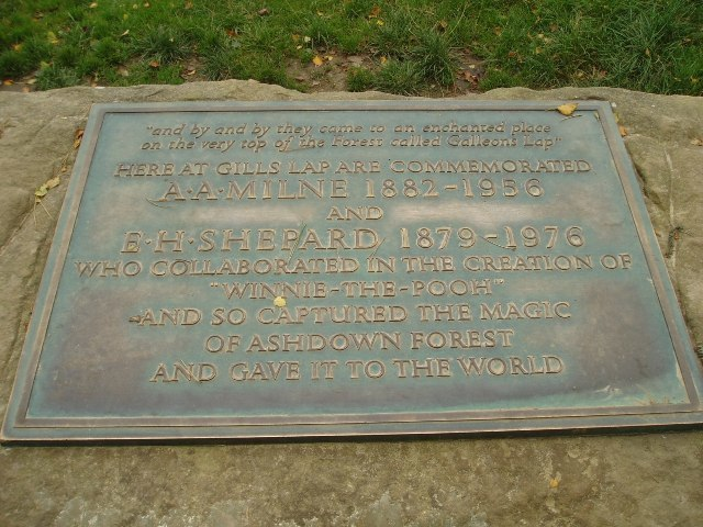 A.A.Milne and E.H.Shephard memorial plaque - geograph.org.uk - 58820