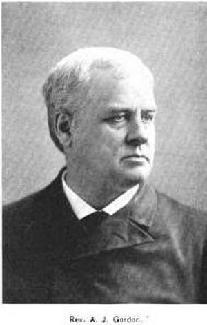 Adoniram Judson Gordon - Image: A.J. Gordon