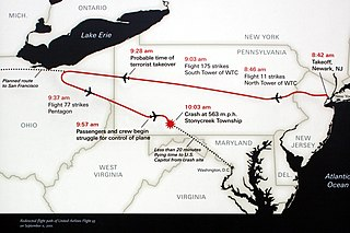 United Airlines Flight 93 9/11 hijacked passenger flight, attempted to hit the US Capitol or the White House