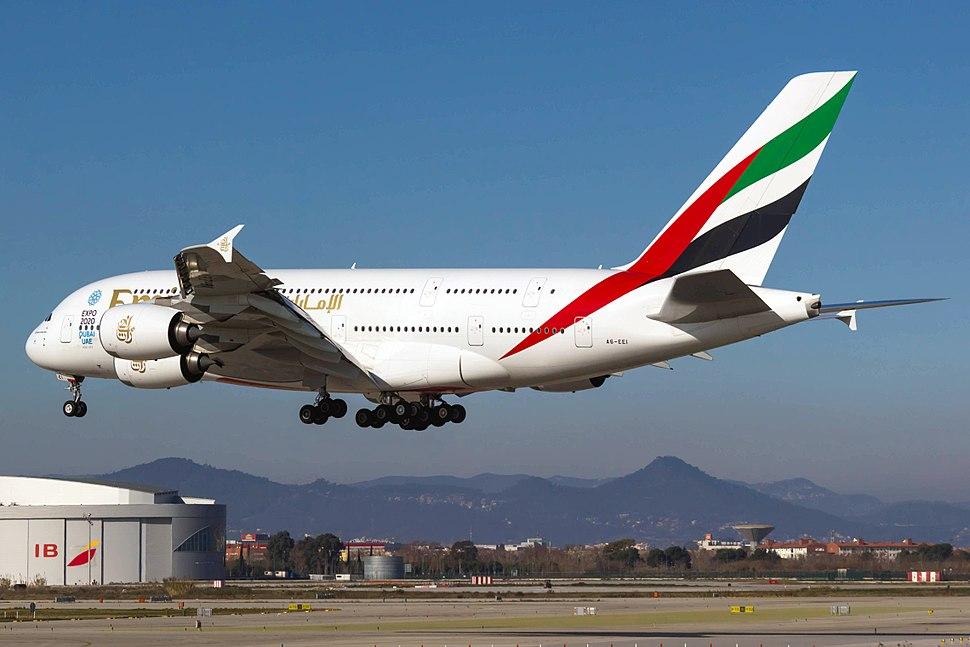 A6-EEI A380 Emirates BCN03