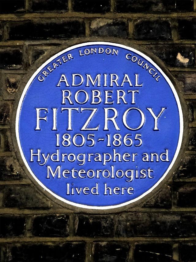Photo of Robert Fitzroy blue plaque