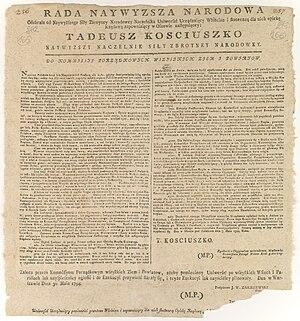 Proclamation of Połaniec - Uniwersał połaniecki