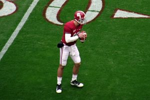 AJ McCarron, quarterback for the Alabama Crims...