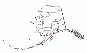 Fritz Creek, Alaska - Image: AK Map doton Fritz Creek