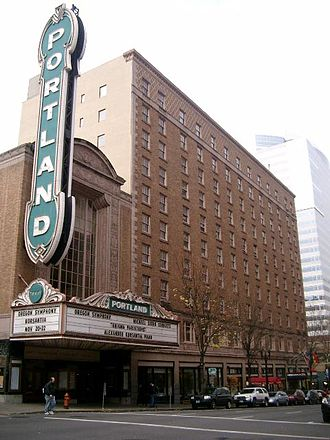 Arlene Schnitzer Concert Hall - Arlene Schnitzer Concert Hall and Heathman Hotel.