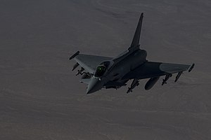 A British Typhoon fighter flies over Iraq Dec. 22, 2015.jpg