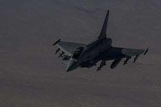 Operation Shader - Image: A British Typhoon fighter flies over Iraq Dec. 22, 2015