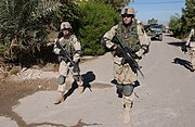A CO 1-18IN 2BDE 1ID on patrol Iraq Nov 2004