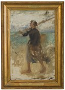 A Fishergirl from the North of France. Study (August Hagborg) - Nationalmuseum - 18865.tif