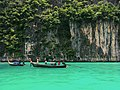 A Long-tail Boat in Pileh Lagoon, Phi Phi Le.jpg