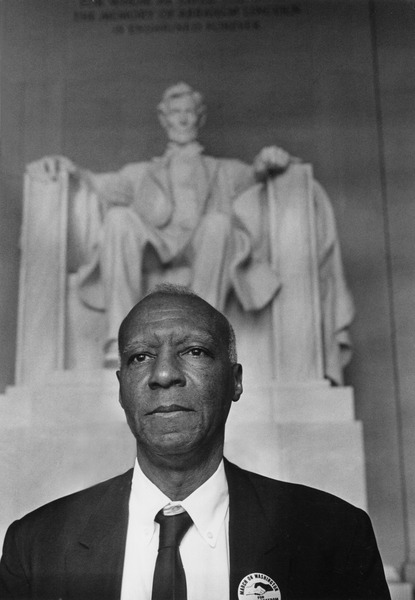 A Philip Randolph, photographed on the day of the March on Washington, 1963. Photograph by Rowland Scherman