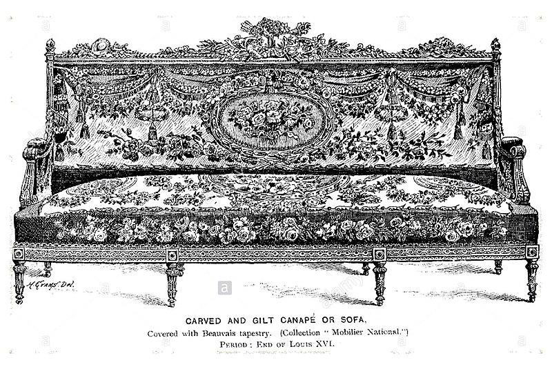 Um estudo sobre o sentar lu s xiv xv e xvi for History of canape