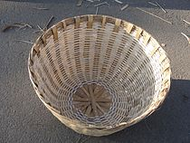 A bamboo basket big in size.JPG