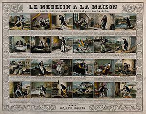 A broadsheet illustrating 24 maladies and giving remedies. C Wellcome V0017102.jpg