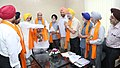 A delegation of All Parties Sikh Coordination Committee, Kashmir, meeting the Union Home Minister, Shri Rajnath Singh, in New Delhi on June 23, 2016.jpg